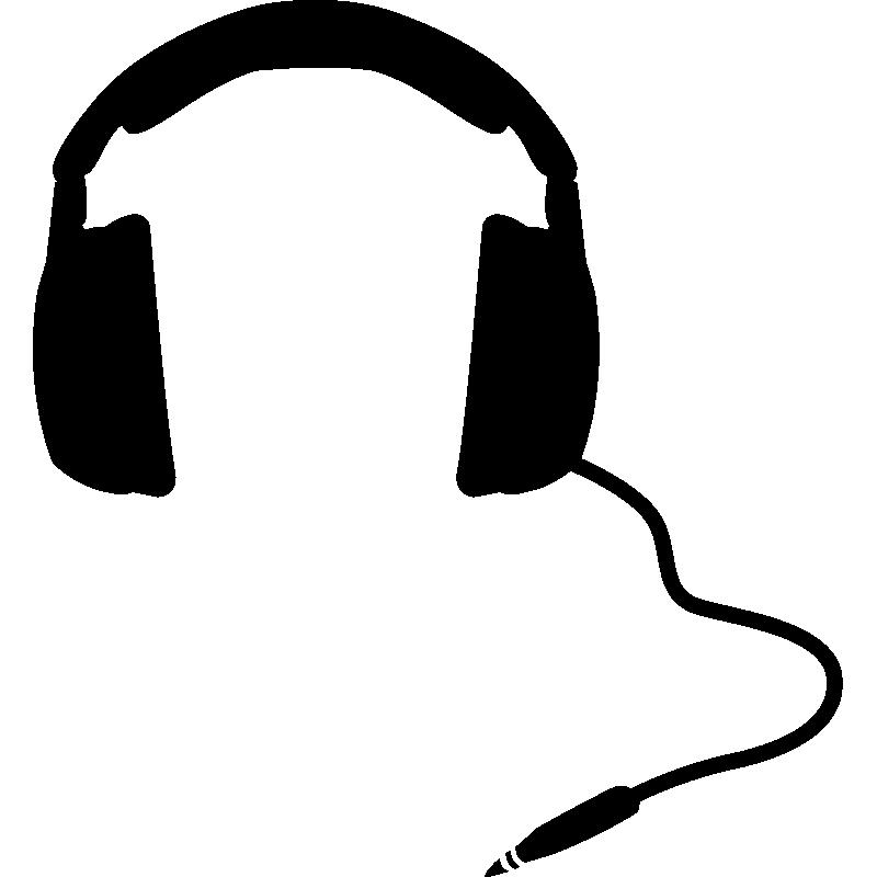 Dessin Casque Audio mac stickers casque audio